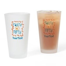 Personalized Farty at Fifty Drinking Glass