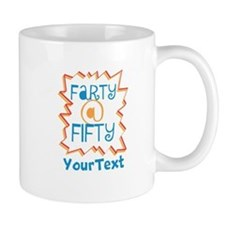 Personalized Farty at Fifty Mug