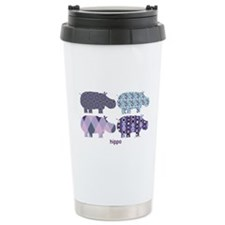 Cute Hippo Travel Mug