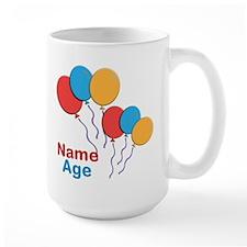 CUSTOMIZE Happy Birthday Any Age Lg Mug - Right