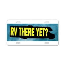 Funny rv Aluminum License Plate