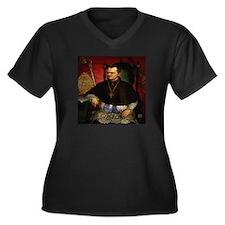 Gregor Mendel 1822-84 Women's Plus Size V-Neck Dar
