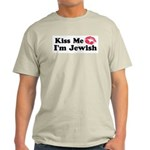 Kiss Me I'm Jewish Light T-Shirt