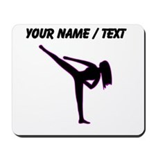 Custom Pink Karate Silhouette Mousepad