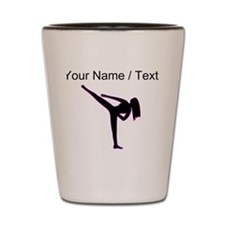 Custom Pink Karate Silhouette Shot Glass