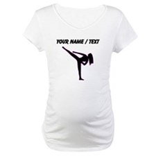 Custom Pink Karate Silhouette Shirt