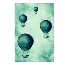 Steampunk Hot Air Balloon Postcards (Package of 8)