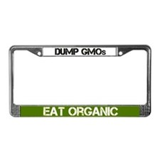 Dump Gmos - Eat Organic License Plate Frame