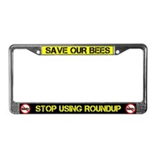 Save Our Bees No Roundup License Plate Frame