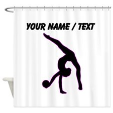 Custom Rhythmic Gymnastics Silhouette Shower Curta