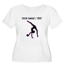 Custom Rhythmic Gymnastics Silhouette Plus Size T-