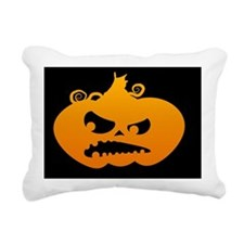 Pumpkin Angry Rectangular Canvas Pillow