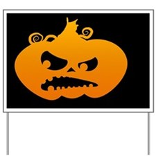 Pumpkin Angry Yard Sign