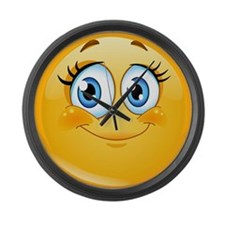 Cute Smiley face Large Wall Clock