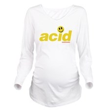 Acid Smiley Long Sleeve Maternity T-Shirt