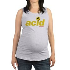 Acid Smiley Maternity Tank Top