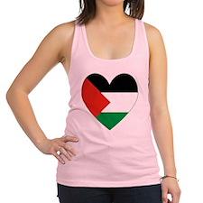 Palestinian Flag Heart Valentin Racerback Tank Top