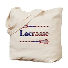 Lacrosse Stars and Stripes Tote Bag