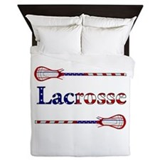 Lacrosse Stars and Stripes Queen Duvet