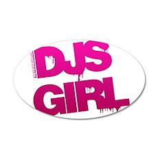 DJs Girl 20x12 Oval Wall Decal