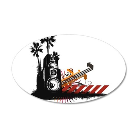 Speaker Tower 35x21 Oval Wall Decal