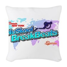 NuSkool BreakBeats Woven Throw Pillow