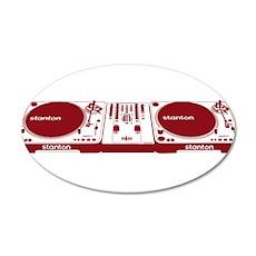 Stanton DJ Setup 35x21 Oval Wall Decal