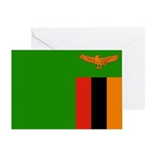 Zambia Flag Greeting Card