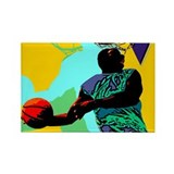 Basketball player Rectangle Magnet (100 pack)