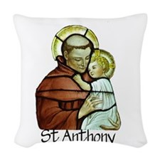 St Anthony Woven Throw Pillow