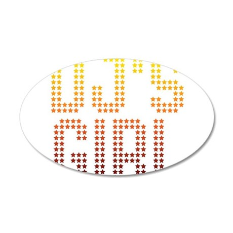 DJ's Girl 20x12 Oval Wall Decal