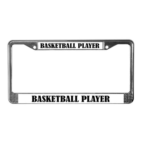 Basketball Player On Board License Plate Frame