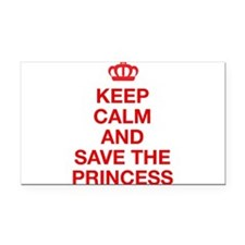Cute Princess peach Rectangle Car Magnet