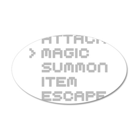 Magic Attack 20x12 Oval Wall Decal