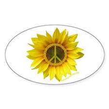 Peace Oval Decal
