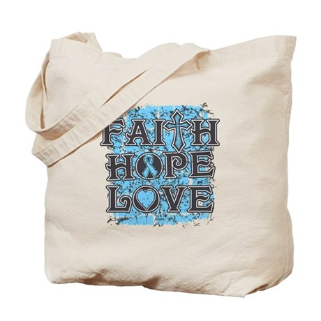 Thyroid Disease Faith Hope Love Tote Bag
