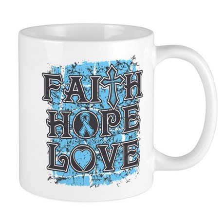 Thyroid Disease Faith Hope Love Mug