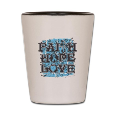 Thyroid Disease Faith Hope Love Shot Glass