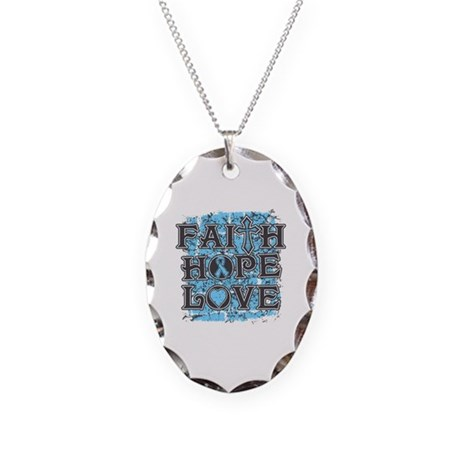 Thyroid Disease Faith Hope Love Necklace Oval Char