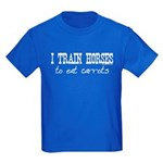 I Train Horses, To Eat Carrots Kids Dark T-Shirt