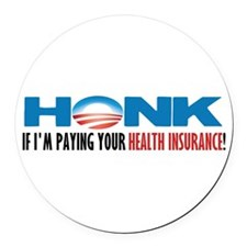 Cute Funny anti obama Round Car Magnet