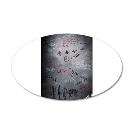 Cheat Codes 35x21 Oval Wall Decal