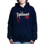 bleedingTattoedChick copy.png Hooded Sweatshirt