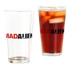Mad Alien Drinking Glass