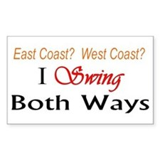 """I Swing Both Ways"" Rectangle Stickers"