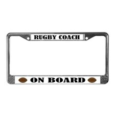 Rugby Coach On Board License Plate Frame