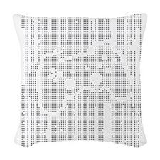 Dot Matrix Pad Woven Throw Pillow