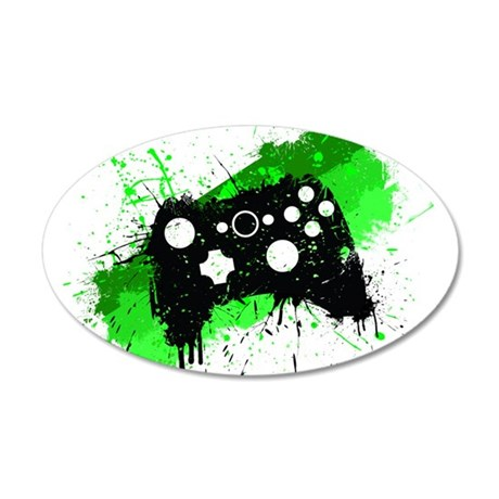 Graffiti Box Pad 20x12 Oval Wall Decal