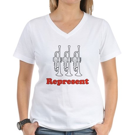 Trumpet &quot;Represent&quot; Women's V-Neck T-Shirt