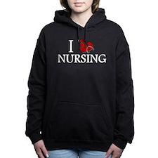 I Love Nursing Hooded Sweatshirt